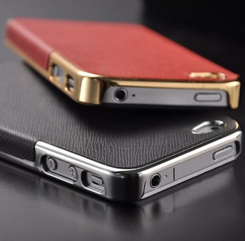 FREE SHIPPING Fashion Ultra Slim Platinum Design Hard Case For iPhone 4 /4S  luxury Phone Cover Accessory cell phone case