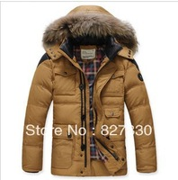 2013 men's brand winter jacket and long sections 90 white duck down jacket coat thicker shipping