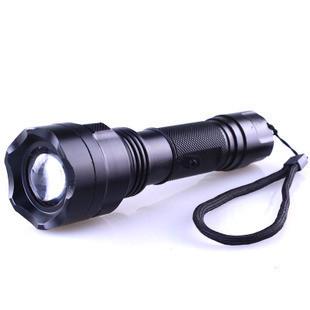 Variofocus c8-6ledr3 wick glare flashlight rotating focusers charge waterproof