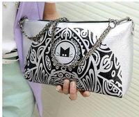 2013 fashion envelope bag messenger bag print bag document day clutch womens bags shoulder handbag