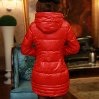 Free shipping xxl big size down coat fashion autumn and winter plus size slim medium-long down coat female  wool fur daser
