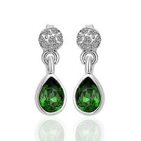 18KGP E222 18K Platinum Plated Earrings For Women Nickel Free K Golden Jewelry Plating Platinum Austrian Crystal SWA Element