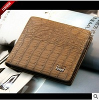 Free Shipping Wholesale New 2013 Genuine Leather Wallet , Men's Fashion Purse Men's business wallet B261