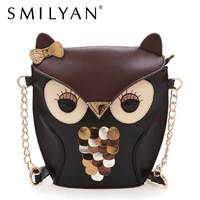 Smilyan bags 2013 women's owl handbag vintage color block messenger bag