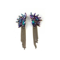 Min order $18 (Can mix item ) New hot rhinestone tassel chain earrings