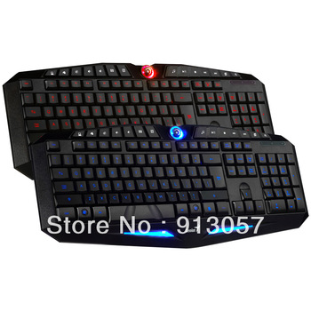 Fairy k9 backlit keyboard computer cf usb wired gaming keyboard two-color led lighting