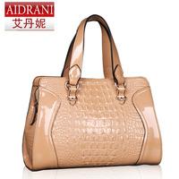 New 2014 women's leather handbags crocodile pattern women handbag cowhide vintage bag shoulder bags for women messenger bag