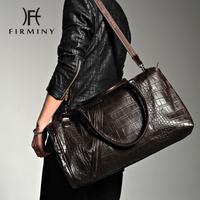New arrival british style crocodile pattern leather bag male casual handbag travel bag shoulder bag