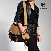 Fashion large capacity male casual canvas bag one shoulder male messenger bag