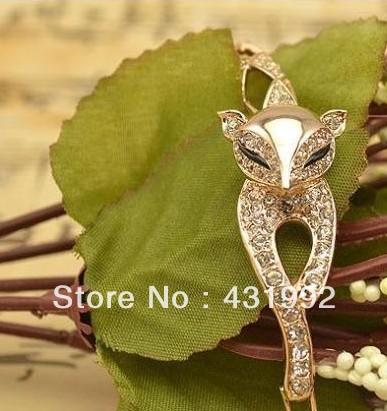 Elegant and sleek retro exaggerated female fox bracelet wide animal year(China (Mainland))