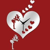 Free shipping diy acrylic new fashion wedding home decorative mirrors room set love fairy  present rose gift mirror wall clock