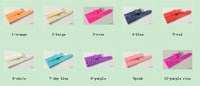 Wholesale 20Pcs/Lot 20MM Rubber Watchbands Rubber Watch Band Strap 10 Colors Avaliable