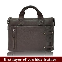 bag men genuine leather 2013 business briefcase leather bags,portfolio suitcase a4 bags,53057