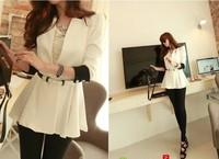 dress women office fashion girls dress summer short skirts white black blouse casual slim candy dress outerwear free ship#s89