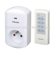 Self learning remote control socket  TW68F 1V1 with CE certified for French, Belgium, Poland