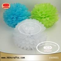 "14"" D35CM  tissue pom poms ,paper flower for wedding decoration"