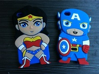New Designer Brand 3D Anime Cartoon Marvel Captain America Soft Rubber Mobile Phone Cases Cover For Ipod Touch 4 4G Shell Skins