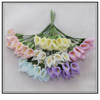 144pcs/lot wholesale PE Flowers  Calla Lily Hand Made Small Wedding Bouquet Scrapbooking Christmas decoration wedding decoration