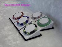 Wholesale 5pcs/lot Bangle&Bracete Jewelry Display Stand Holder White leather Bangle Display