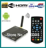 Free Shipping Mini Google Android TV Box Network TV Set-Top Box Network TV Player 1.2GHZ CPU,  1G DDRIII 4G FLASH  WIFI 3D
