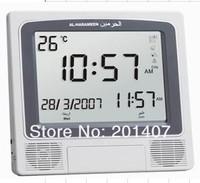 hot sale high quality HA4009 LCD Azan clock   for all prayers 1150 cities  Qibla clock 10ppcs free shipping cost