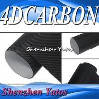Black 4D Carbon Fiber Vinyl Sheet Wrap with Bubble Free 5M/10M/15M/20M/30M