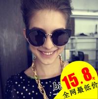 2013 fashion vintag vintage metal cat-eye round sun glasses sunglasses large sunglasses