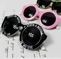 2013 key sunglasses fashion letter polka dot round box sunglasses