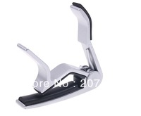 2pcs/lot Aluminium Metal Trigger Guitar Capo Clamp For Acoustic / Electric Guitar Silver  Free shipping