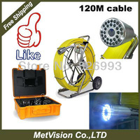 120m fiberglass cable 7INCH color DIGITAL LCD MONITOR, pipe inspection camera, sewe drain pipe and wall inspection system,hot