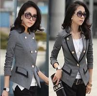 2014 Free Shipping Women Blazers Fashion Slim Suits Women's Jacket Long Sleeve Cotton Blazer Business Casual Chothes(WS024)
