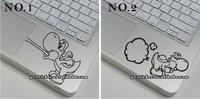 Free Shipping 10pcs/lot Wrist Stickers Unique Stickers for MacBook Stickers Yoshi Stickers