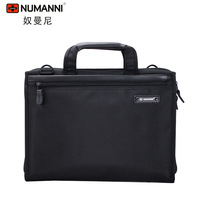 DHL Free shipping NUMANNI HIGH QUALITY kpop new arrivals briefcase genuine leather match oxford fabric of cross-body laptop bag