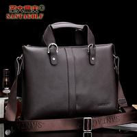 Holy gough commercial man bag male handbag messenger bag briefcase bag leather bag business bag