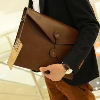 Horizontal casual fashion man bag vintage briefcase shoulder bag handbag messenger bag canvas bag trend