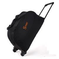Large capacity high quality portable trolley luggage bag canvas travel bag luggage bags trolley bag