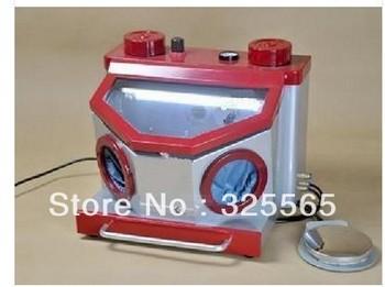 Dental Lab Fine Blasting Unit Sand Blaster 2 Pen 2 Bottle w/Drawer//freeshipping