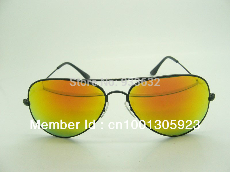 12color reflector mirror sunglasses, high quality fashion sunglasses for men and women with original packaging(China (Mainland))