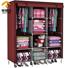 Double simple wardrobe cloth wardrobe oversize folding combination wardrobe fabric  Ano