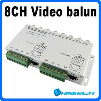 5Pcs/Lot UTP RJ45 Camera DVR Balun to CCTV 8 Channel Video BNC Free Shipping