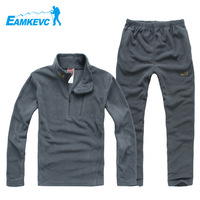 Outdoors Brand Men windproof breathable Fleece Thermal Hiking Camping Set