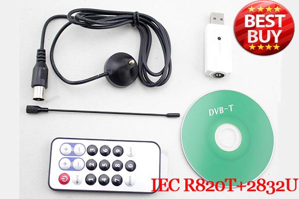 IEC R820t+2832U Digital TV Receiver,HDTV Mini Dongle,Stick,DVB-T Tuner Support FM Radio+DAB+SDR Aircraft Tracking Free shipping(China (Mainland))