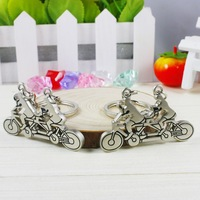 Key Chains Double bicycle couple key chain double bicycle keychain  key chain wholesales