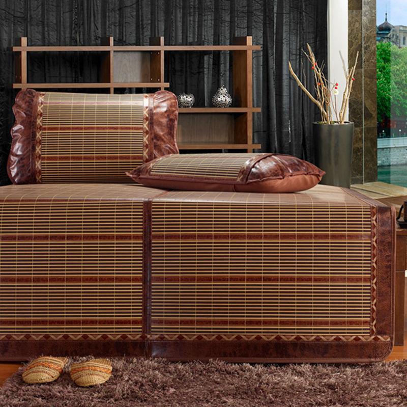 Dg black classic home textile mats summer mat double faced mats rattan seat folding seats bed mats kit(China (Mainland))