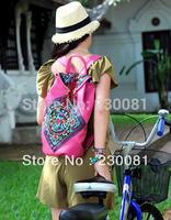Ethnic Floral bags women 2013 The Sale New Designer PU School Backpacks/Knapsack Traveling Bags Fashion