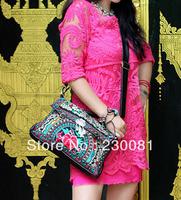 Fashion PU Embroidery Handbag/Totes/Shoulder bag Vintage  Embroidered Totes  Designer Handbag Women's Handbag
