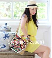 Travell Handbags 2013 Designer Handbags India Items Embroidered Tassel Thai Shoulder Bag Vintage High Quality