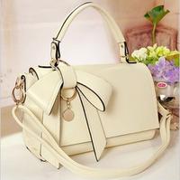 Fashion vintage 2013 saddle color block BOSS one shoulder bow women's handbag fashion motorcycle bag big