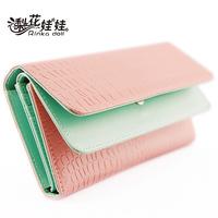 Pear doll wallet female flip double knitted stone pattern long design women's wallet women's wallet