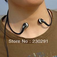 Black Lightweight 3.5mm Sport Earbuds Neckband Earphone Headphone
